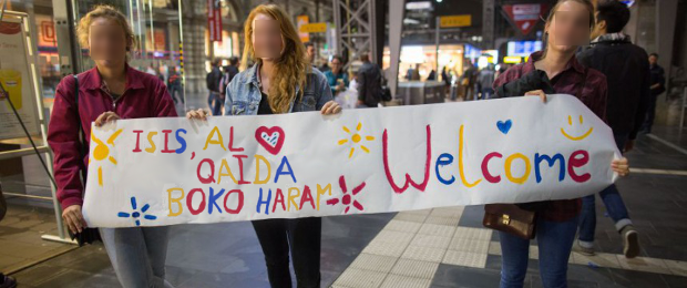 Bildmontage: Refugees Welcome